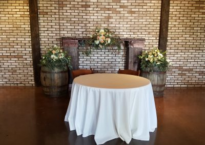 Wedding Reception Sweetheart Table